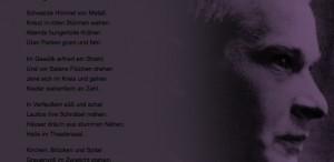 Sagala: Fünf Gedichte von Trakl